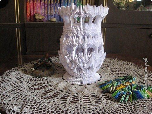 Оригами модульное: Временно белая ваза