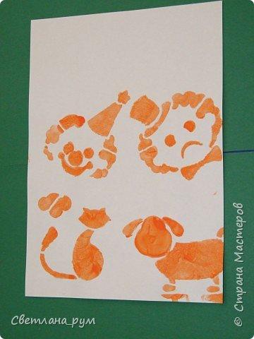 Печать губкой: Трафаретная роспись фото 1
