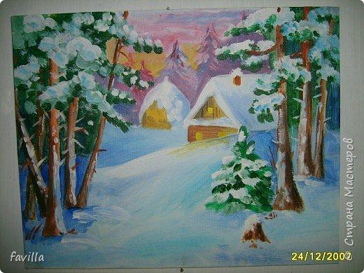 Снежный пейзажик