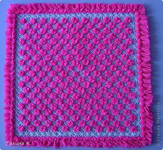 Плетеная салфетка фото 1
