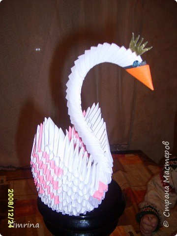 Оригами модульное: Царевна -Лебедь фото 1