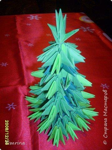 Оригами модульное: Елочка-красавица фото 2