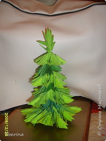 Оригами модульное: Елочка-красавица фото 3
