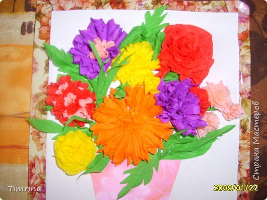 Торцевание: Цветочная Открытка фото 3