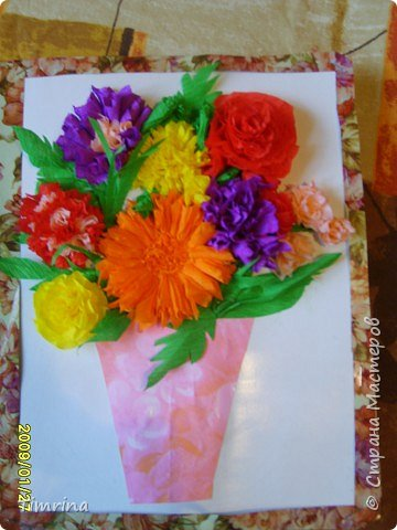 Торцевание: Цветочная Открытка фото 2