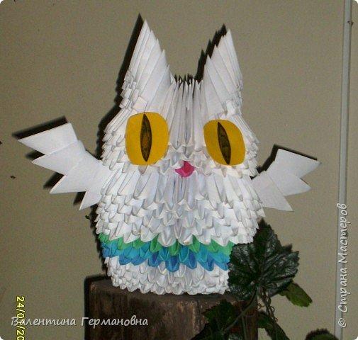 Оригами модульное: совушка