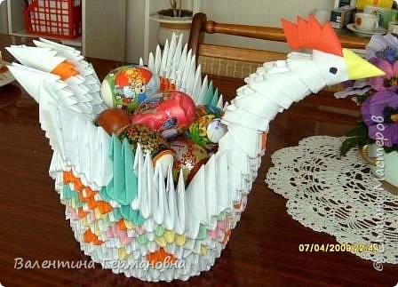 Оригами модульное: еще одна наша несушка