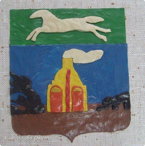 Лепка: герб Барнаула