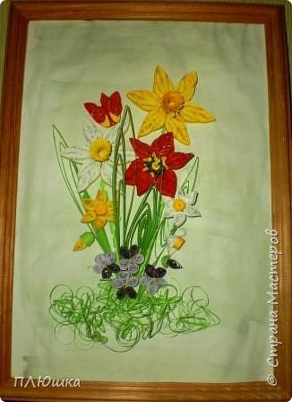 Квиллинг: Букет весны фото 4