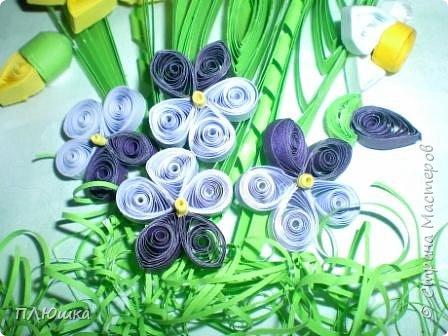 Квиллинг: Букет весны фото 2