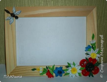 "Квиллинг: Рамочка ""Цветочная поляна"" фото 1"