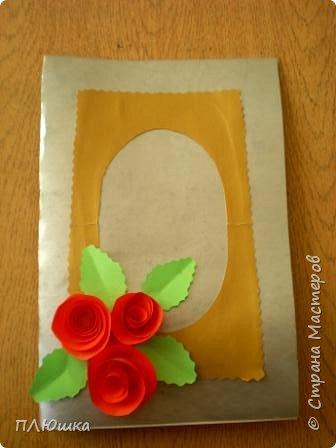 Открытка с розами к 8 Марта фото 1