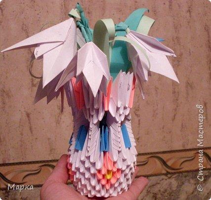 Оригами модульное: Цветы - подарок.