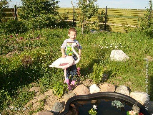 Было у нас во дворе много пустого места. Решили немного его обустроить- сделать прудик. Начали копать!!! фото 4