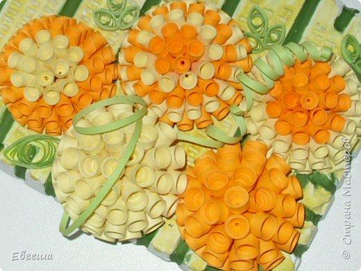 Квиллинг: Цветочное панно фото 3