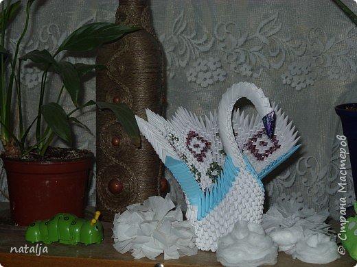 Оригами модульное: Белая лебёдушка