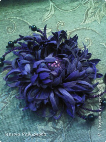 декоративные цветы из ткани. фото 7
