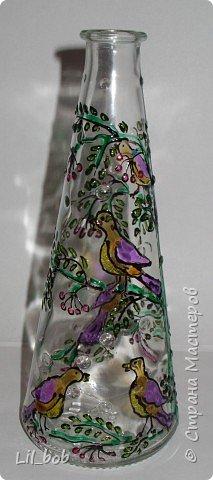 Витраж: Витражная роспись декоративных бутылочек фото 8