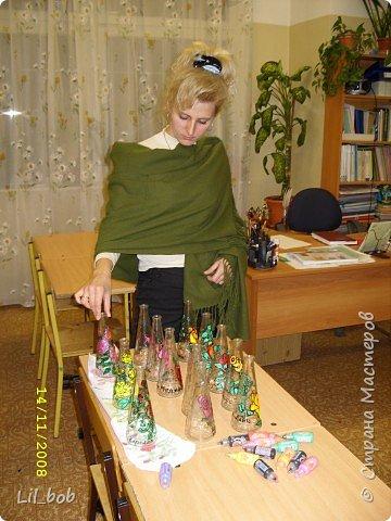 Мастер-класс по изготовлению декоративных бутылочек фото 3