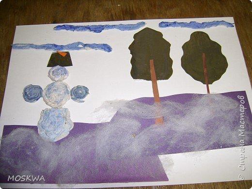 Бумагопластика, Монотипия: Зимние зарисовки фото 3