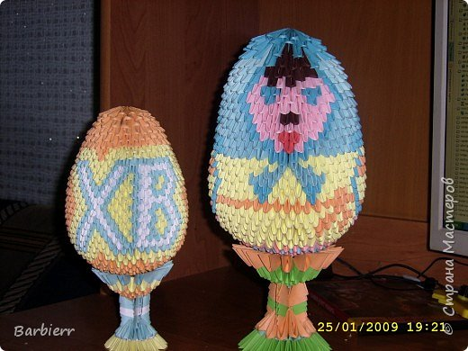 Оригами модульное: Пасхальные яйца фото 3