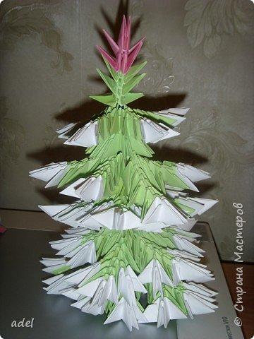 Оригами модульное: Ёлочка фото 1
