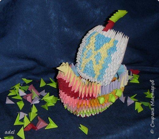 Оригами модульное: Кораблик фото 1
