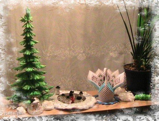 Оригами модульное: В лесу родилась ёлочка! фото 2