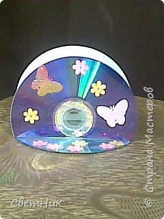 салфетница из дисков фото 1
