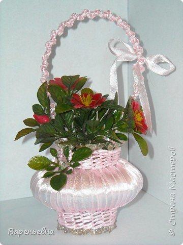 Корзинка с цветами фото 12