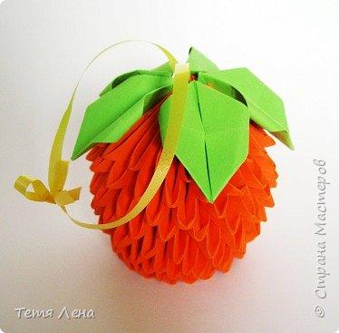 Оригами модульное: Апельсин