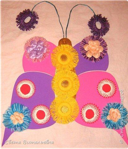 Изонить: Бабочка-цветочница фото 2