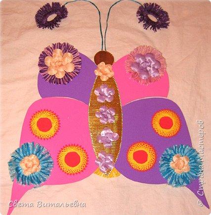 Изонить: Бабочка-цветочница фото 1
