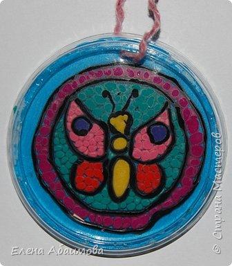 Аппликация из пластилина (+ обратная): бабочка