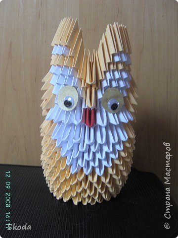 Оригами модульное: Совёнок
