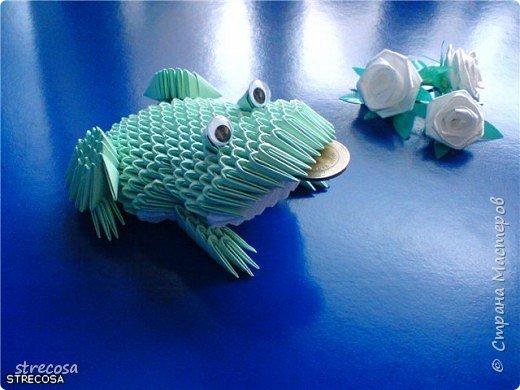 Оригами модульное: лягушонок фото 1