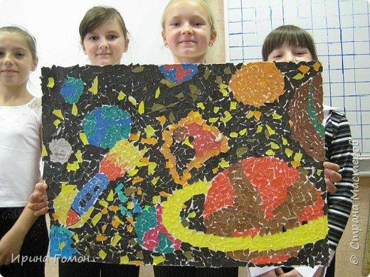 Мозаика: мозаика из обрывных кусочков бумаги фото 6