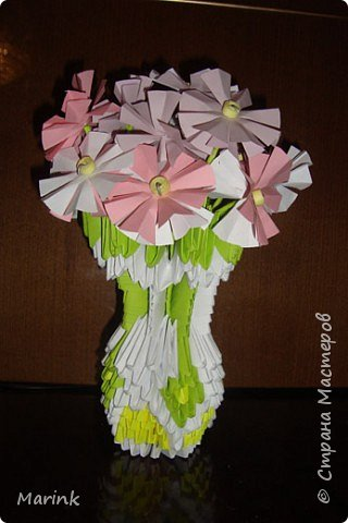 Оригами модульное: 8 марта