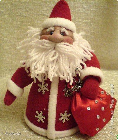 Игрушка мягкая: Дед Мороз и Снегурочка фото 1