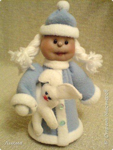 Игрушка мягкая: Дед Мороз и Снегурочка фото 2
