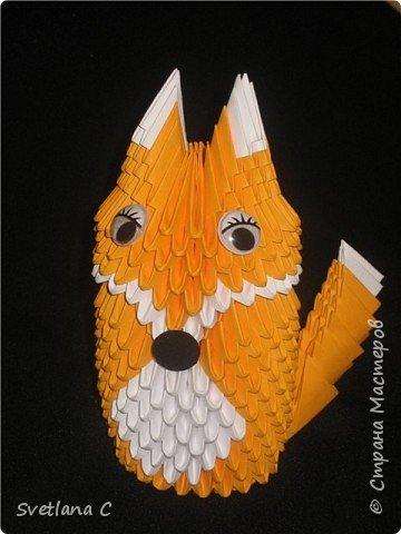 Оригами модульное: Лиса фото 1