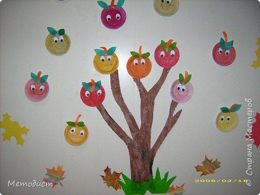 Аппликация: Яблонька волшебная из одноразовых тарелок 4-5 лет ГОУ 2423 Москва