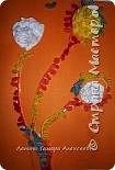 Аппликация: Цветы из салфеток у нас получились фото 1