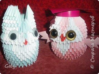 Оригами модульное: Филин и совушка фото 3
