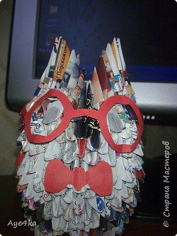 Оригами модульное: Ученая сова)))