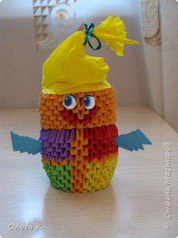 Оригами модульное: Весёлый клоун или домовёнок