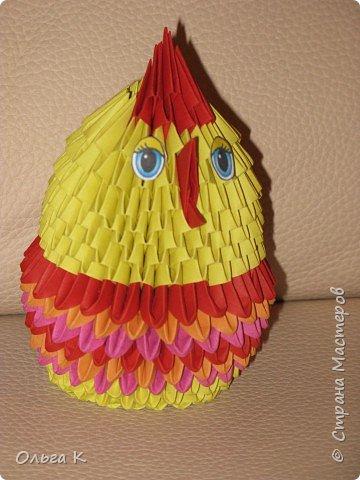 Оригами модульное: Цыплёнок в юбочке фото 1