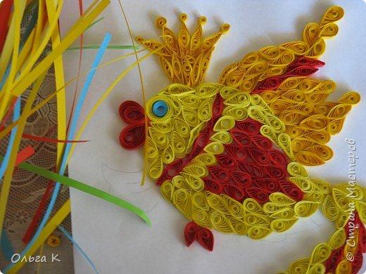 Квиллинг: Мой первый квиллинг Золотая рыбка фото 2