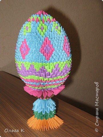 Оригами модульное: Пасхальное яйцо фото 1