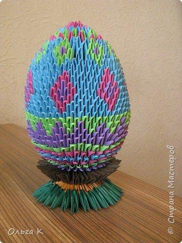 Оригами модульное: Пасхальное яйцо фото 2
